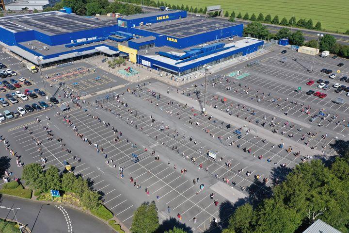 Monday's queues at Ikea Warrington.
