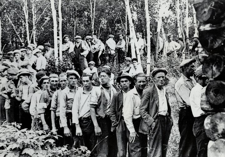 Unemployed Canadians marched across the country during the Great Depression, demanding more support from the federal government. The men pictured here in Kenora, Ont., July 19, 1935, had marched from labour camps in Manitoba.