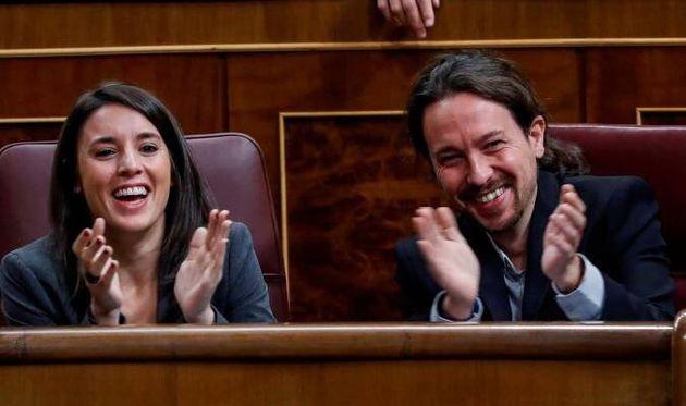 Irene Montero y Pablo Iglesias, juntos en el