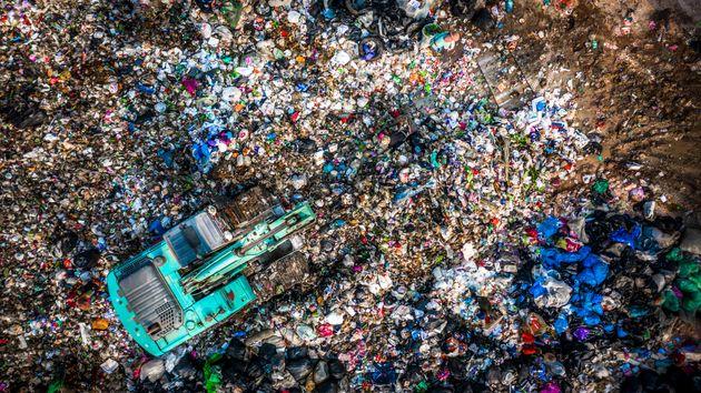 Una montaña de basura