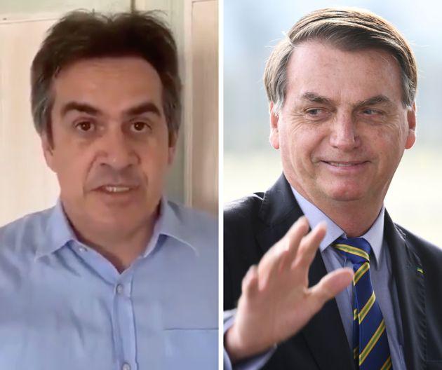 O senador Ciro Nogueira (PI), presidente do PP, e Bolsonaro, que nomeou o chefe de gabinete de Nogueira...