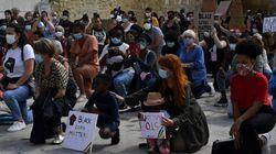 300 personnes agenouillées à Bordeaux en hommage à George