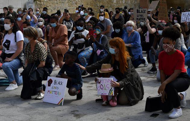 Des manifestants en soutien à George Floyd, à Bordeaux, le 1er juin
