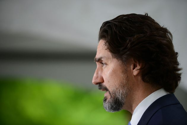 Justin Trudeau durant la conférence de presse de