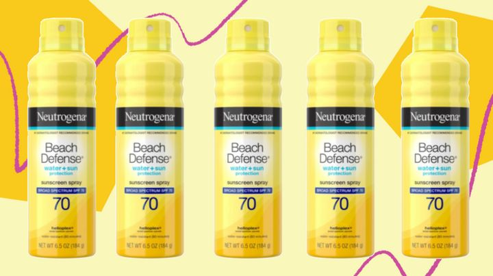 "<a href=""https://fave.co/3gSLMhc"" target=""_blank"" rel=""noopener noreferrer"">Neutrogena&rsquo;s Beach Defense Water + Sun Protection Spray SPF 70</a>&nbsp;has an ""excellent"" rating for SPF and is ""very good"" for&nbsp;UVA protection.&nbsp;"