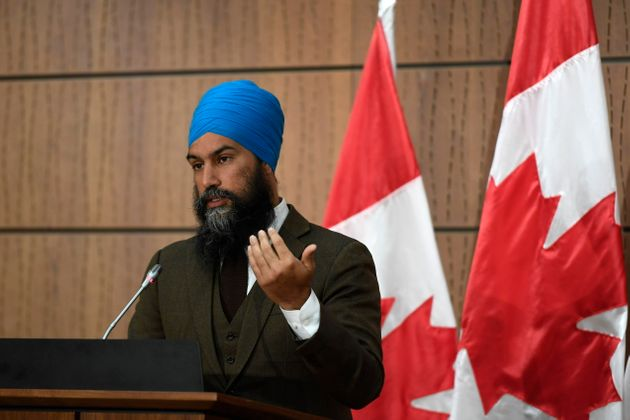 NDP Leader Jagmeet Singh speaks during a news conference in Ottawa on June 1,