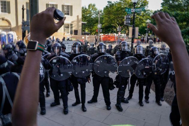 Una protesta en Washington el 1 de junio de 2020(Drew Angerer/Getty