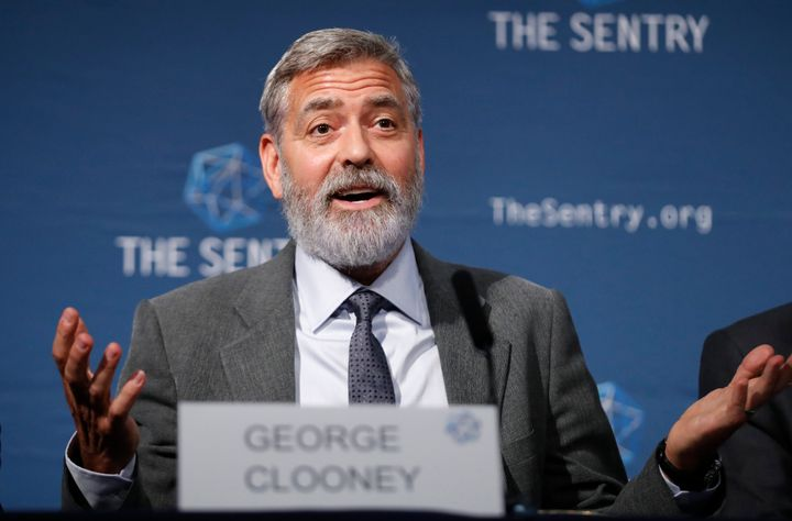 """George Clooney said the """"only one way in this country to bring lasting change"""" is to vote."""