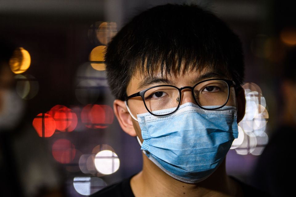 5월 22일 조슈아 웡 홍콩 데모시스토당