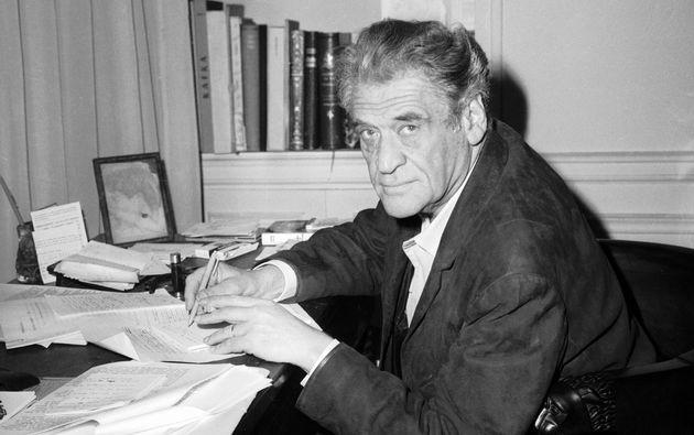 FRANCE - SEPTEMBER 30: The French writer Joseph KESSEL at his desk in his home on September 30, 1968....