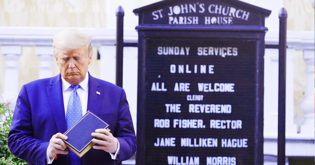 Trump's Bible Photo Op As Teargas Fired At George Floyd Protesters Angers Bishops