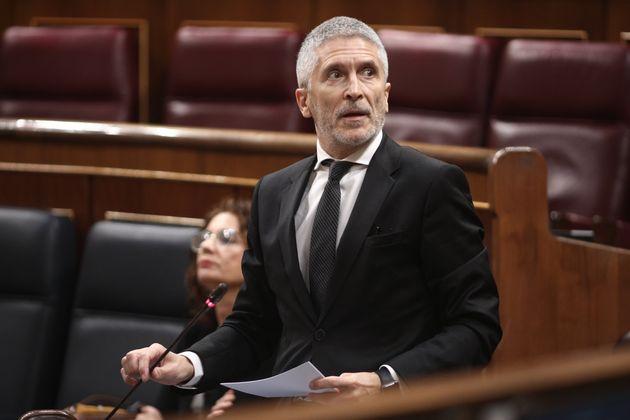 El ministro de Interior, Fernando Grande-Marlaska, el 27 de mayo de 2020 en el Congreso (Eduardo Parra/Europa...