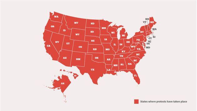 Mapa de las protestas en
