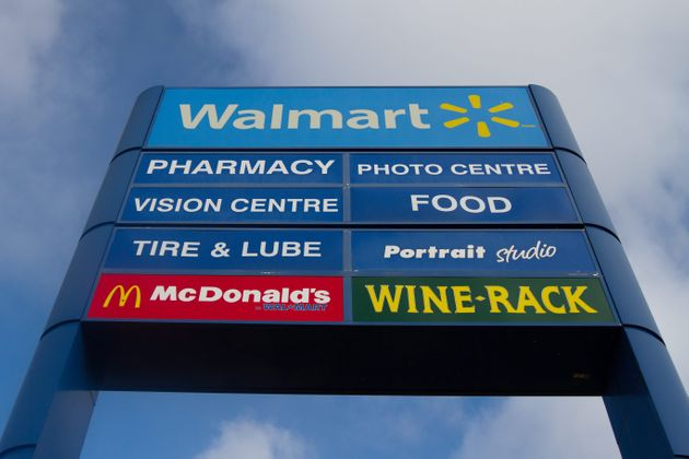 A sign for a Walmart supercentre is seen here in Kingston, Ont., on Jan. 11, 2016. Walmart says it will...