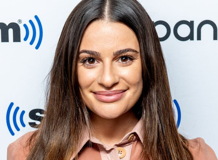 Lea Michele visits Sirius XM in December 2019.