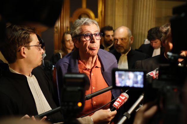 Patrick Balkany sortant de la cour d'appel de Paris le 27