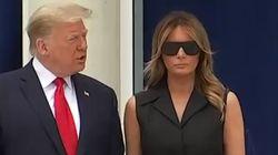 El gesto de Melania con Trump que da la vuelta al mundo: él pide que sonría y la reacción de ella... pues