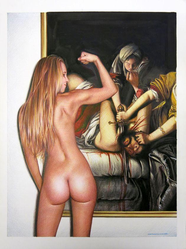 """""""Artemisia, Judith, Raquel"""", cortesía de la galería Fernando"""