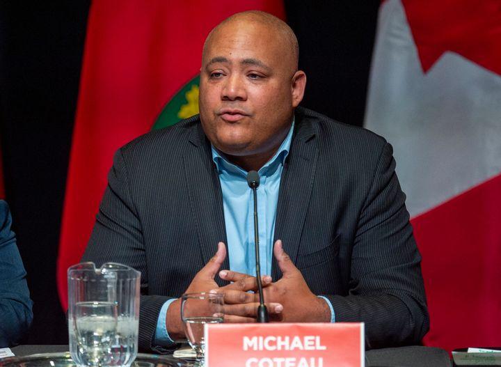 MPP Michael Coteau speaks during a debate in Toronto on Feb. 24, 2020.