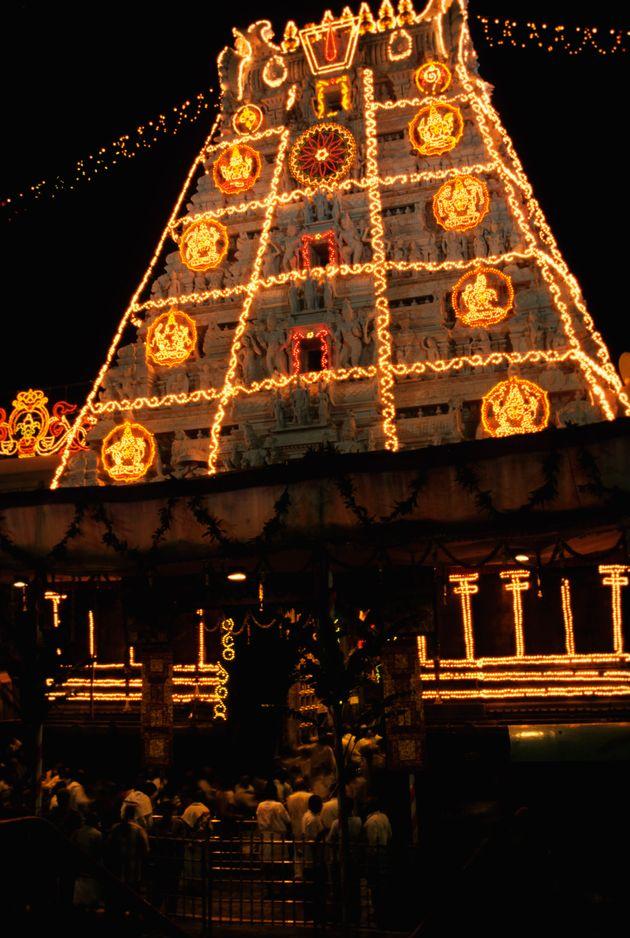 Brahmotsavam procession,