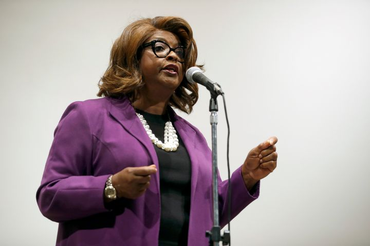 Ella Jones, shown here while a City Council member in 2017, has been elected Ferguson's mayor.