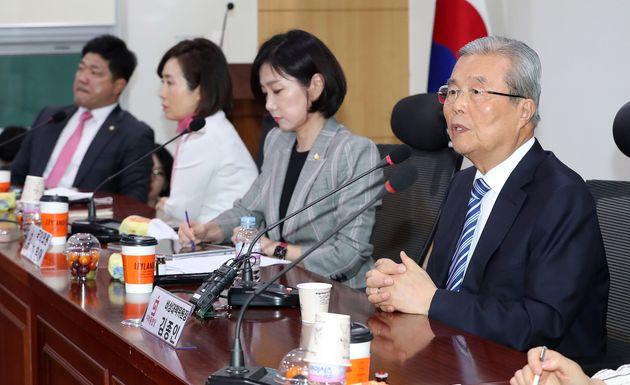 미래통합당 초선 의원 공부 모임에 참석한 김종인 통합당
