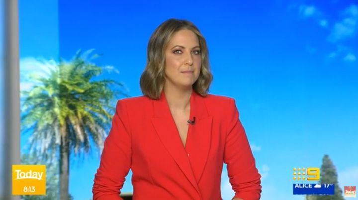Indigenous Australian television presenter Brooke Boney on the 'Today' show on Wednesday