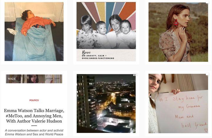 Una imagen del muro de Instagram de Emma Watson.