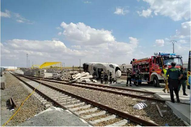 Imagen del accidente del Alvia en La