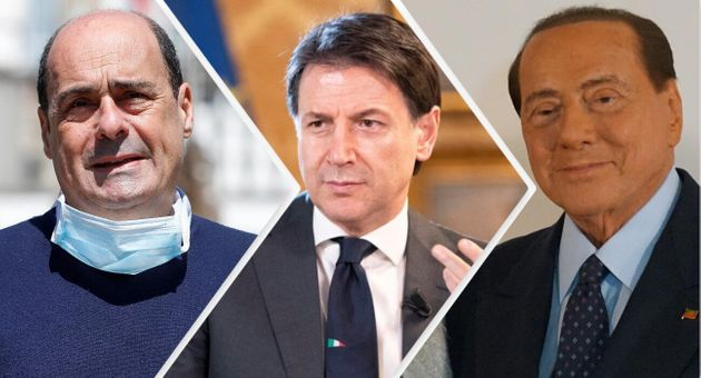 Zingaretti/Conte/Berlusconi