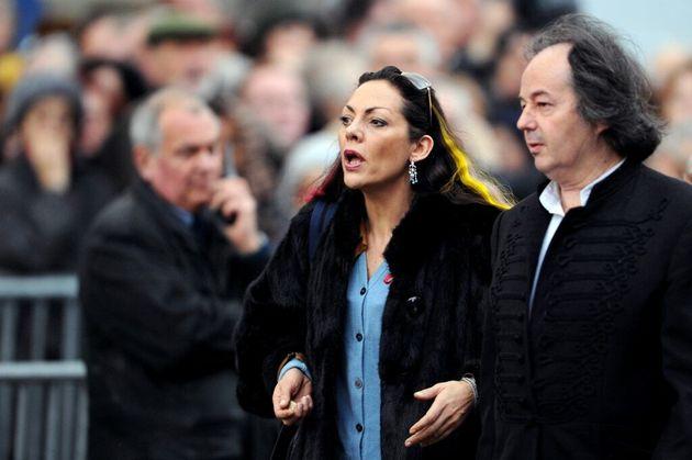 Hermine de Clermont-Tonnerre, le 22 janvier 2008 à Paris, lors des obsèques du chanteur français
