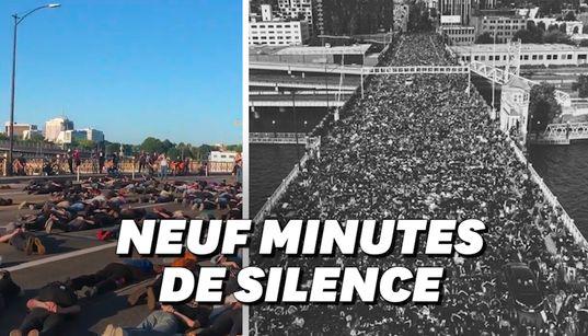 Ces milliers de manifestants se sont couchés menottés en hommage à George
