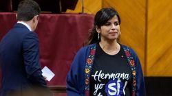 Teresa Rodríguez comparte los desagradables mensajes que ha recibido en