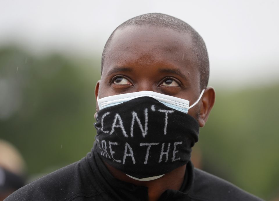 A man demonstrating in Hyde Park on