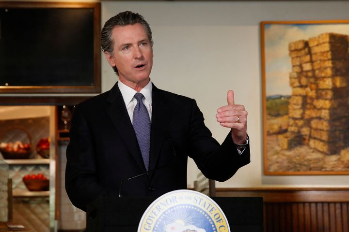 Gov. Gavin Newsom announces new criteria related to coronavirus hospitalizations and testing that could allow counties to ope