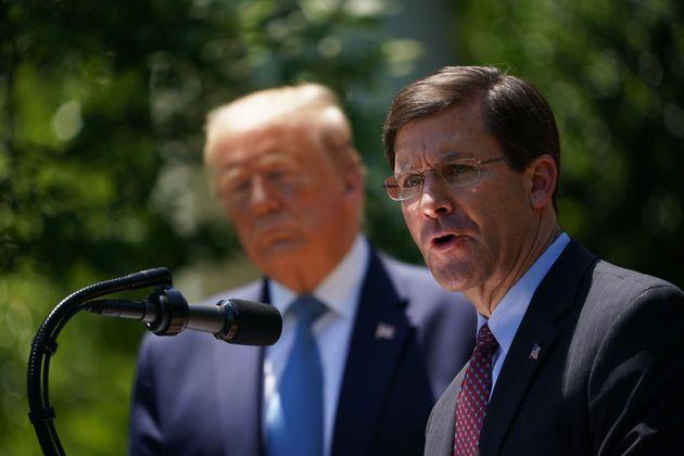 Le ministre de la Défense américain Mark Esper s'est opposé à l'idée...