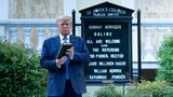 US President Donald Trump holds a Bible while visiting St. John's Church across from the White House after the area was cleared of people protesting the death of George Floyd June 1, 2020, in Washington, DC. - US President Donald Trump was due to make a televised address to the nation on Monday after days of anti-racism protests against police brutality that have erupted into violence. The White House announced that the president would make remarks imminently after he has been criticized for not publicly addressing in the crisis in recent days. (Photo by Brendan Smialowski / AFP) (Photo by BRENDAN SMIALOWSKI/AFP via Getty Images)