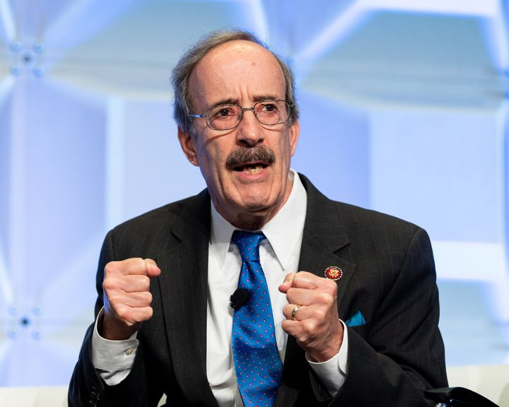 Rep. Eliot Engel (D-N.Y.) speaks at an event in Washington. Progressive challenger Jamaal Bowman has blasted Engel for his ab