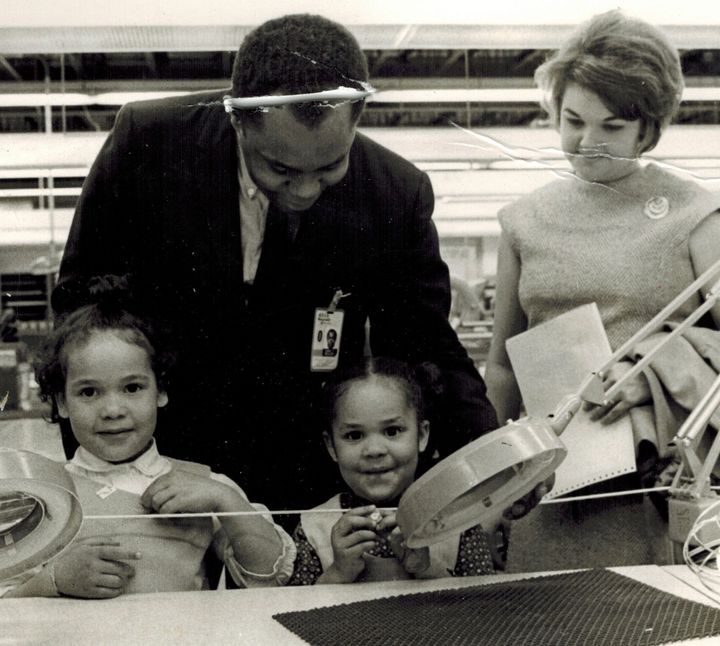 The author, far left, with her family in 1968.