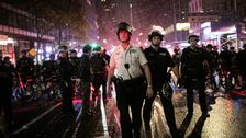 NYPD Uses Aggressive Tactics On Peaceful Demonstrators Out After Curfew