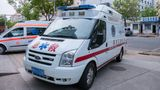 China, Heihe, July 2019: ambulances in the Chinese city of Heihe in the summer