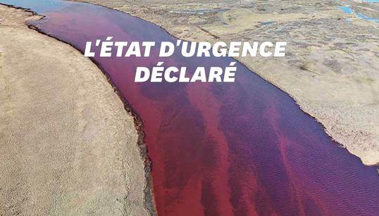 Cette rivière en Arctique est devenue rouge sang après une catastrophe