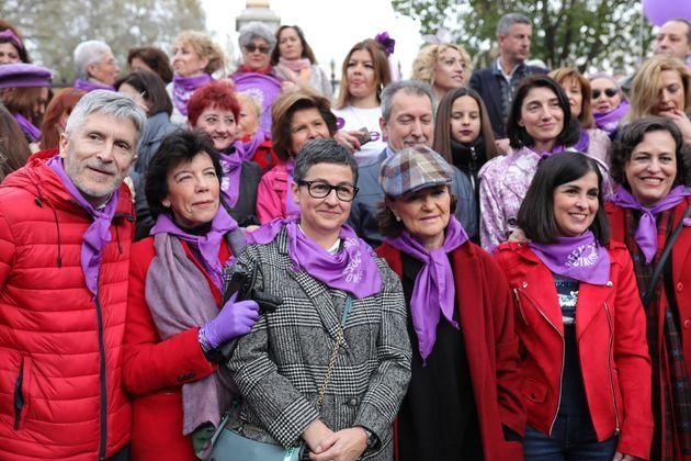 Varios ministros en la manifestación del 8-M en Madrid (Europa Press News/Europa Press via Getty