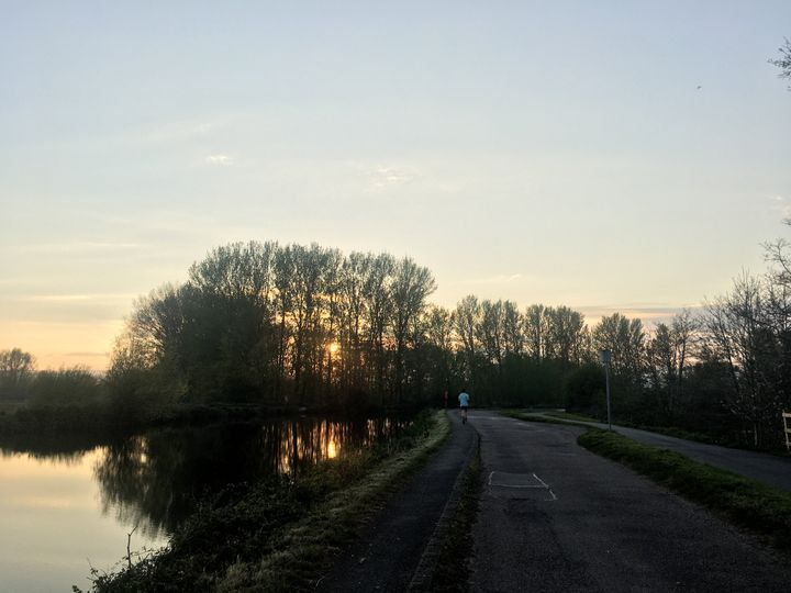 A spring evening cycle.