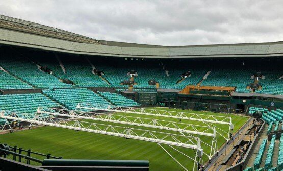Wimbledon, Central Court con il punteggio della finale dell'edizione 2019