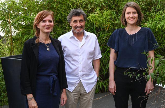 De gauche à droite l'écologiste Clothilde Ollier, le milliardaire Mohed Altrad et l'insoumise...