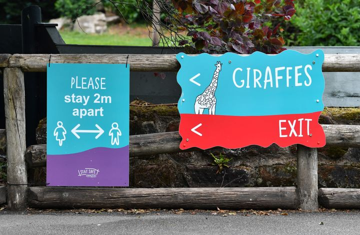 New signs at Chester zoo.