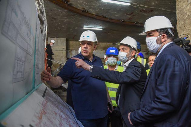Είδε και ο δήμαρχος Θεσσαλονίκης την εξέλιξη του μετρό της
