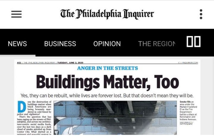 The Philadelphia Inquirer ran a column this week with a headline minimizing the Black Lives Matter movement.