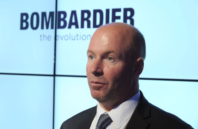 Alain Bellemare, then-president and CEO of Bombardier, at the International Paris Airshow at Le Bourget,...